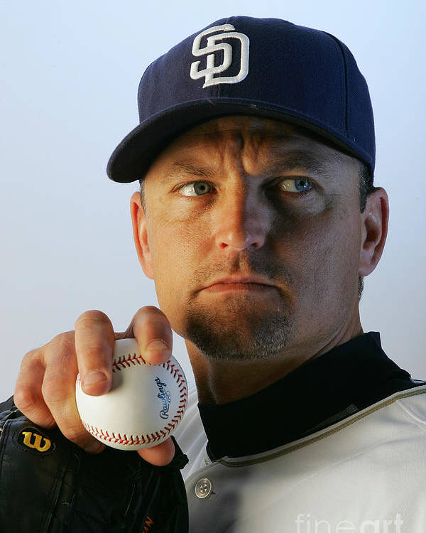 Media Day Poster featuring the photograph Trevor Hoffman by Jeff Gross