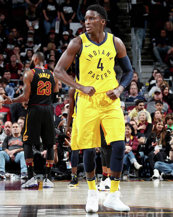 Playoffs Poster featuring the photograph Victor Oladipo by Nathaniel S. Butler