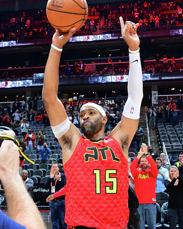 Atlanta Poster featuring the photograph Vince Carter by Scott Cunningham