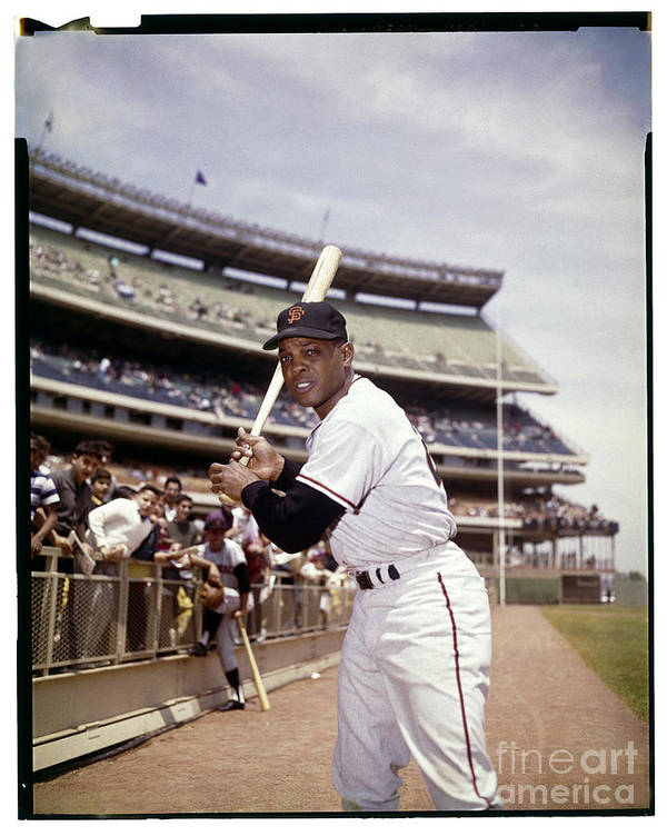 Willie Mays Poster featuring the photograph Willie Mays by Louis Requena