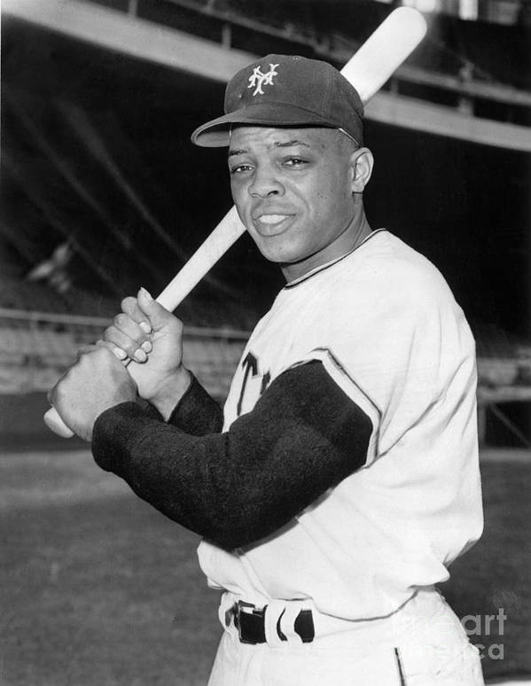 People Poster featuring the photograph Willie Mays by National Baseball Hall Of Fame Library
