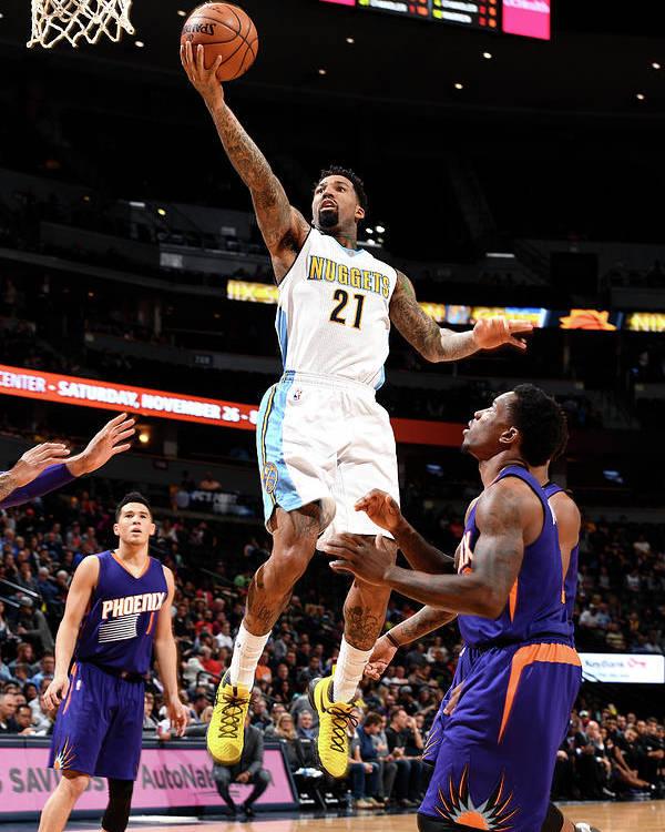 Nba Pro Basketball Poster featuring the photograph Wilson Chandler by Garrett Ellwood