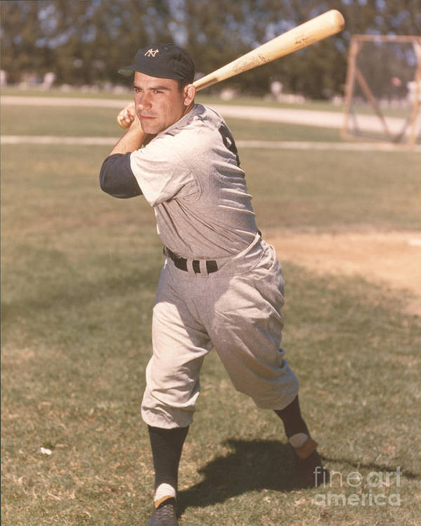 American League Baseball Poster featuring the photograph Yogi Berra by Kidwiler Collection
