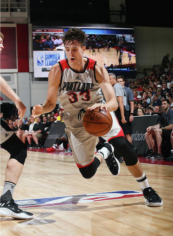 Nba Pro Basketball Poster featuring the photograph Zach Collins by Noah Graham