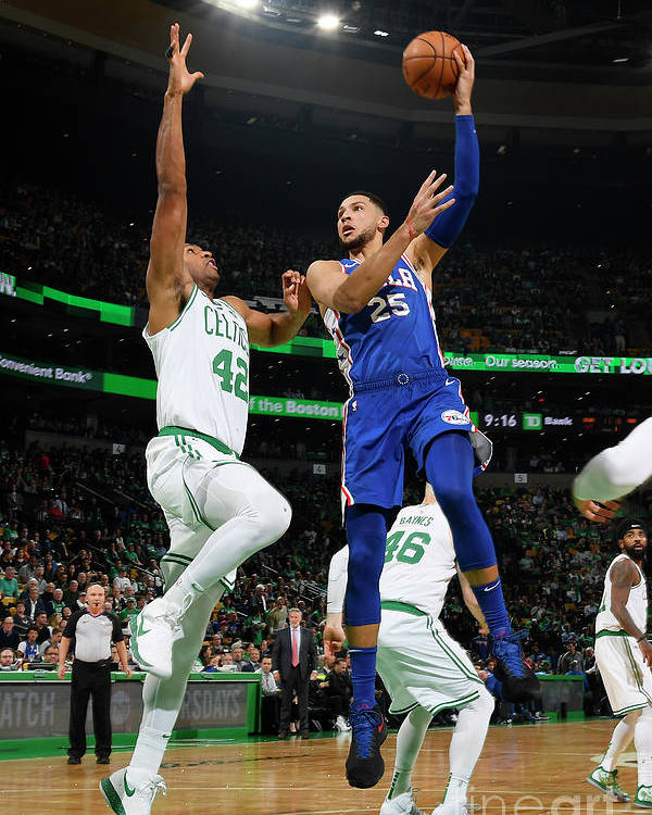 Nba Pro Basketball Poster featuring the photograph Ben Simmons by Brian Babineau