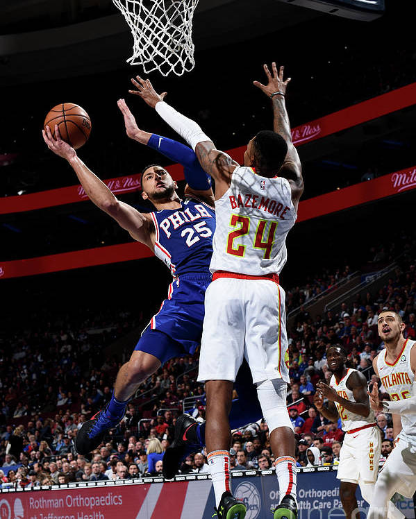 Nba Pro Basketball Poster featuring the photograph Ben Simmons by David Dow