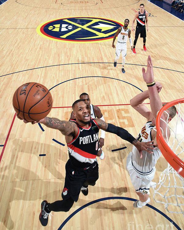 Playoffs Poster featuring the photograph Damian Lillard by Garrett Ellwood