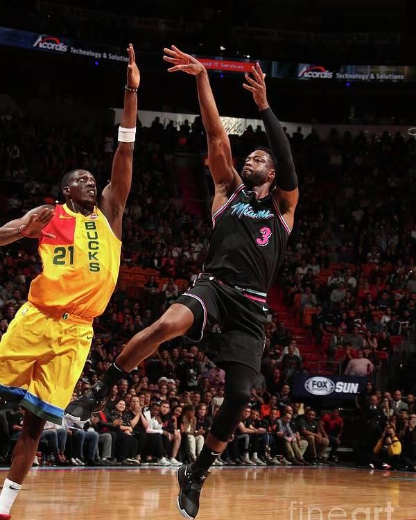 Nba Pro Basketball Poster featuring the photograph Dwyane Wade by Issac Baldizon