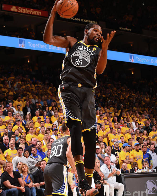 Playoffs Poster featuring the photograph Kevin Durant by Noah Graham