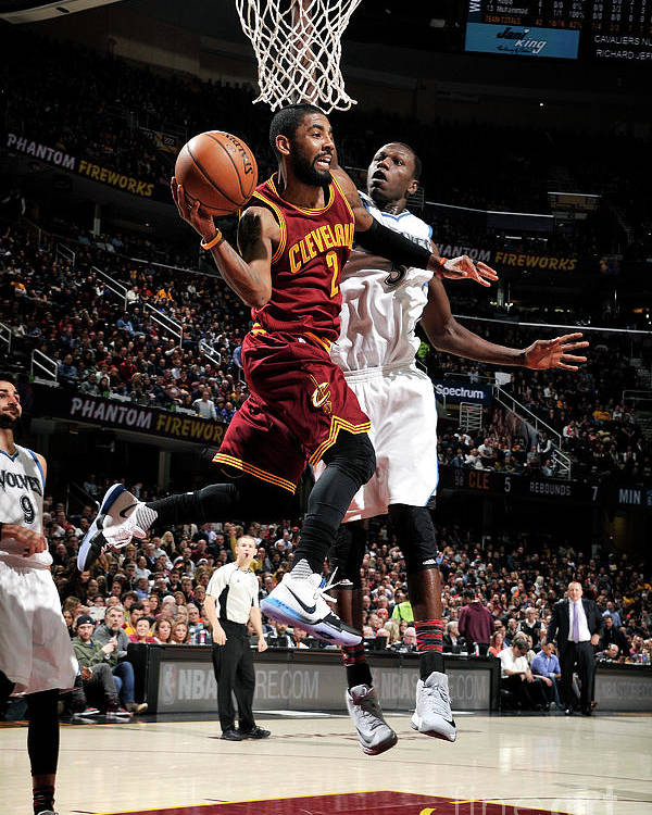 Nba Pro Basketball Poster featuring the photograph Kyrie Irving by David Liam Kyle
