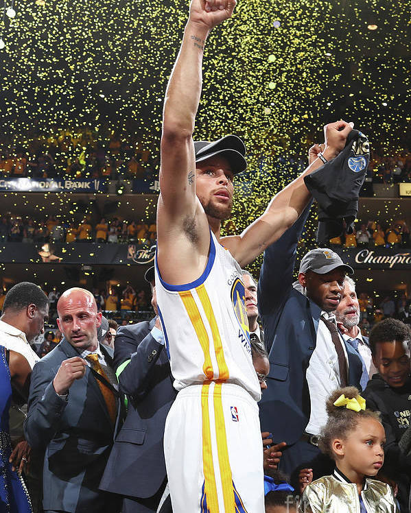 Playoffs Poster featuring the photograph Stephen Curry by Nathaniel S. Butler