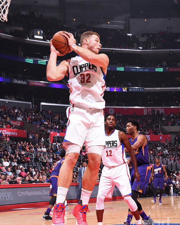 Nba Pro Basketball Poster featuring the photograph Blake Griffin by Juan Ocampo