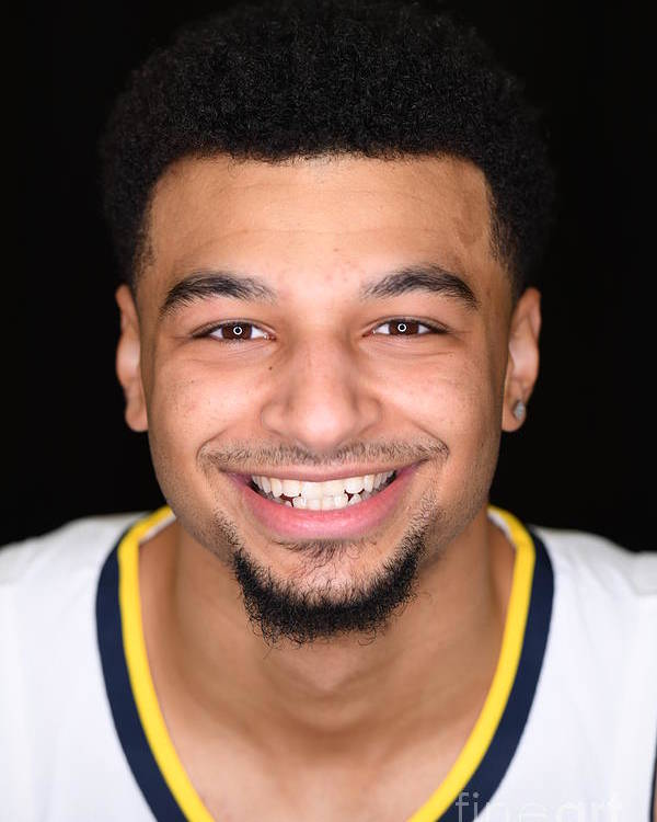 Media Day Poster featuring the photograph Jamal Murray by Garrett Ellwood