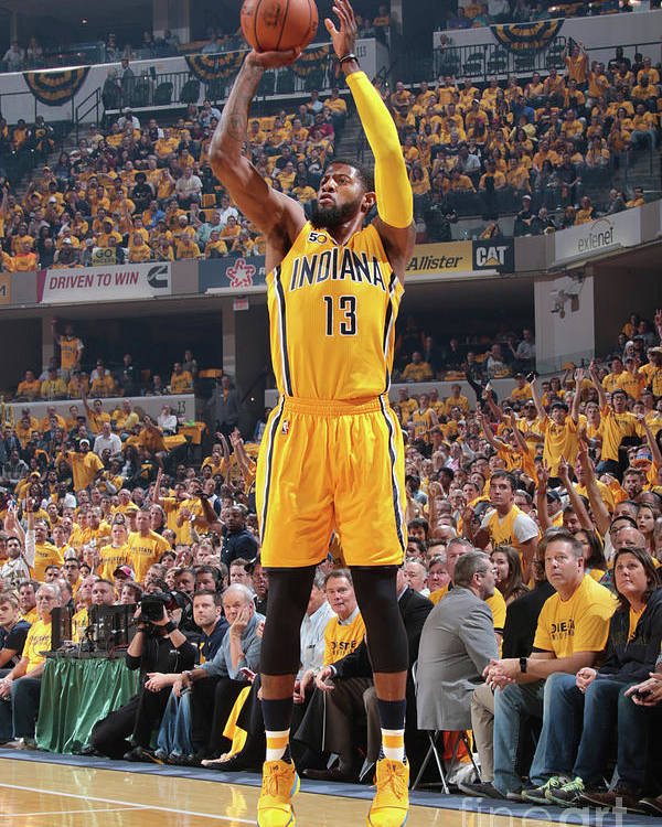 Playoffs Poster featuring the photograph Paul George by Ron Hoskins