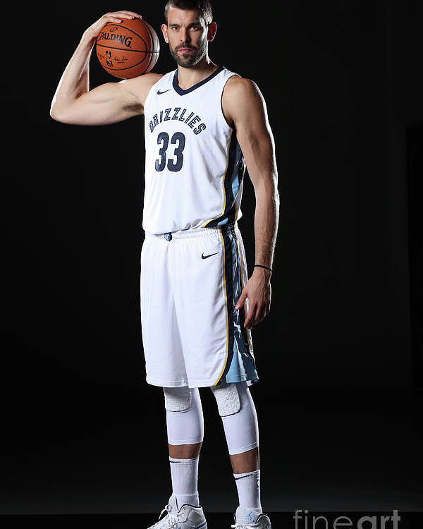 Media Day Poster featuring the photograph Marc Gasol by Joe Murphy