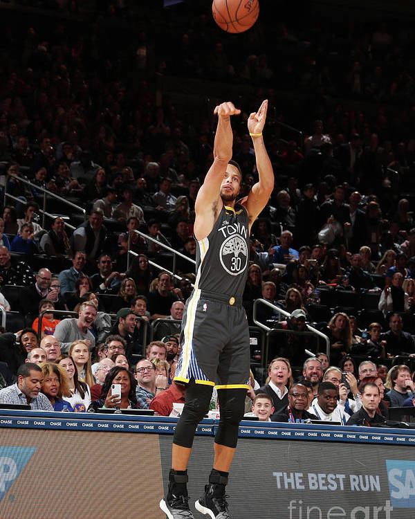 Nba Pro Basketball Poster featuring the photograph Stephen Curry by Nathaniel S. Butler