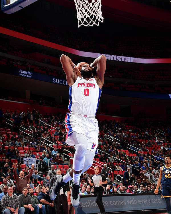 Nba Pro Basketball Poster featuring the photograph Andre Drummond by Chris Schwegler