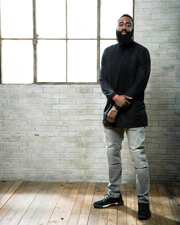 Nba Pro Basketball Poster featuring the photograph James Harden by Nathaniel S. Butler