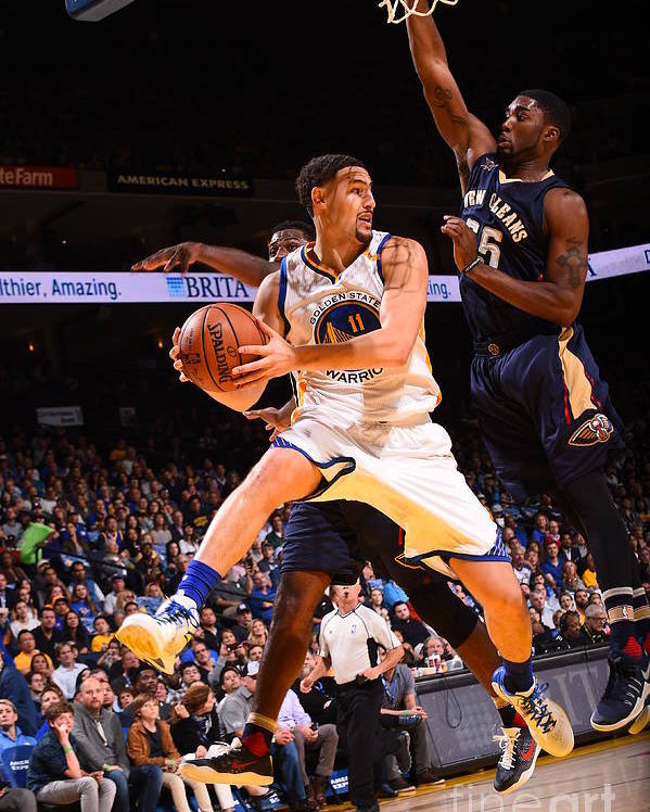 Nba Pro Basketball Poster featuring the photograph Klay Thompson by Noah Graham