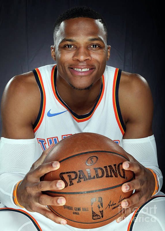 Media Day Poster featuring the photograph Russell Westbrook by Layne Murdoch