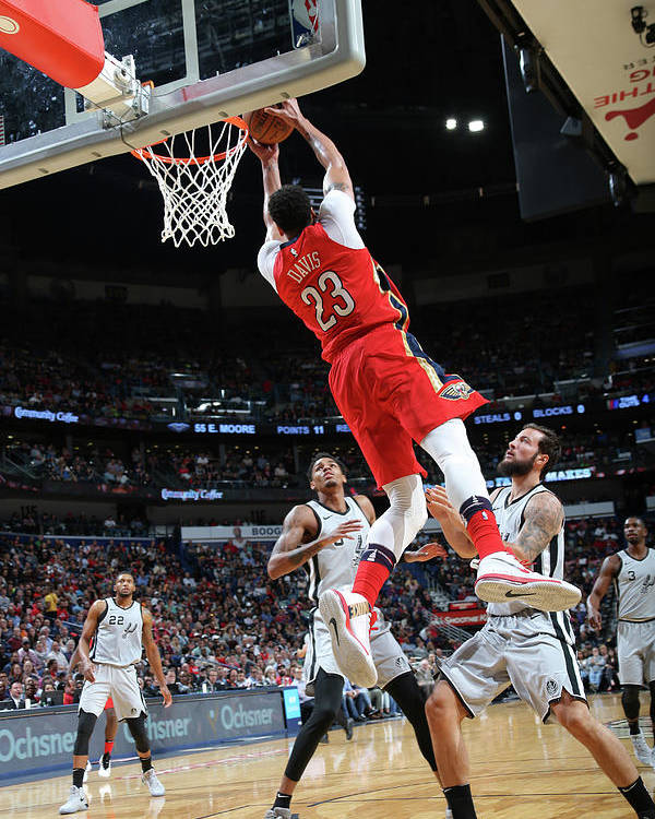 Smoothie King Center Poster featuring the photograph Anthony Davis by Layne Murdoch Jr.