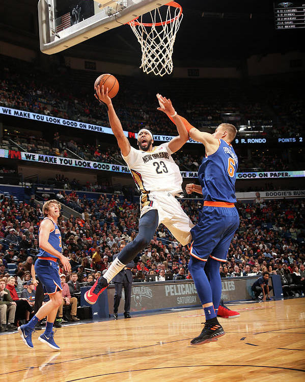 Smoothie King Center Poster featuring the photograph Anthony Davis by Layne Murdoch