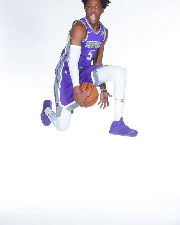 Media Day Poster featuring the photograph De'aaron Fox by Rocky Widner