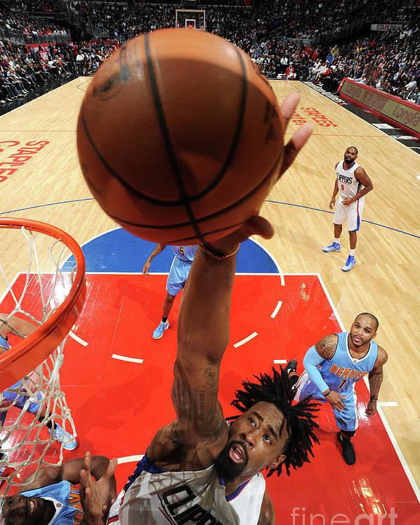Nba Pro Basketball Poster featuring the photograph Deandre Jordan by Andrew D. Bernstein