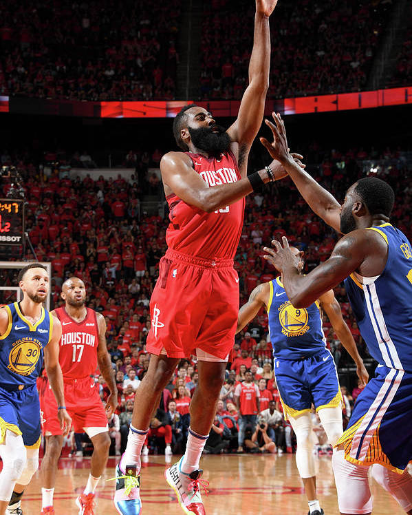 Playoffs Poster featuring the photograph James Harden by Andrew D. Bernstein