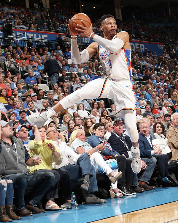 Sports Ball Poster featuring the photograph Russell Westbrook by Layne Murdoch
