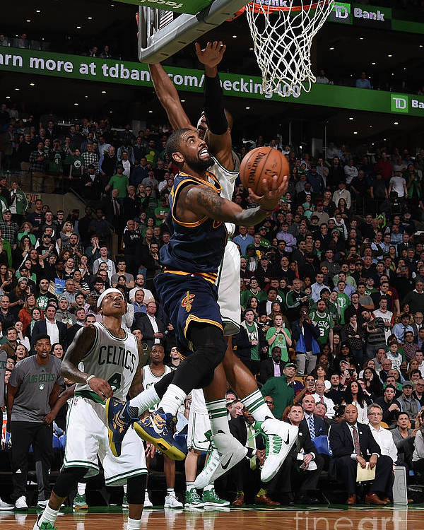 Nba Pro Basketball Poster featuring the photograph Kyrie Irving by Brian Babineau