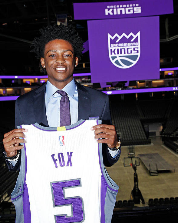 Nba Pro Basketball Poster featuring the photograph De'aaron Fox by Rocky Widner