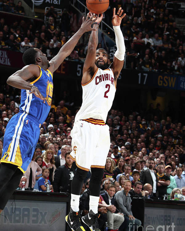 Playoffs Poster featuring the photograph Kyrie Irving by Nathaniel S. Butler