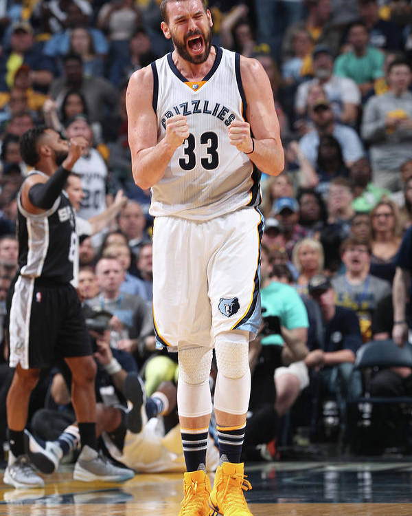 Playoffs Poster featuring the photograph Marc Gasol by Joe Murphy