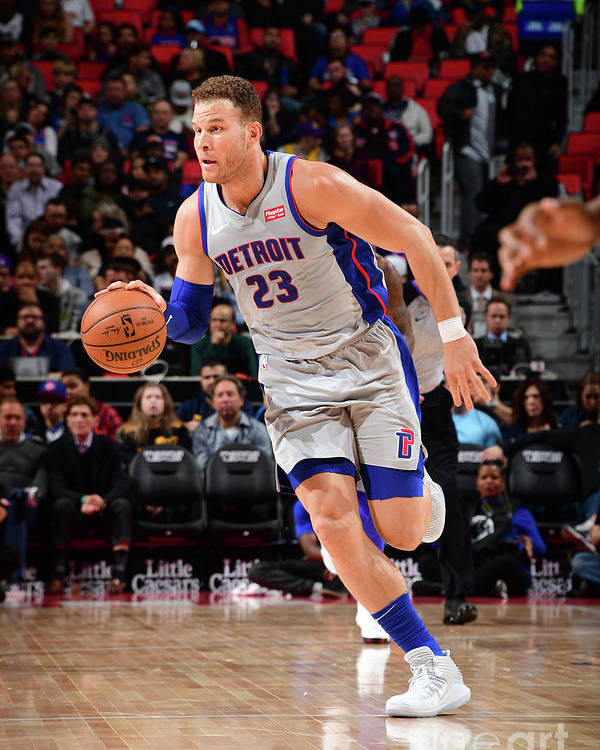 Sports Ball Poster featuring the photograph Blake Griffin by Chris Schwegler