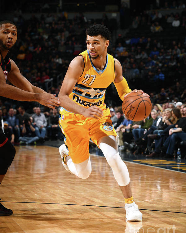 Nba Pro Basketball Poster featuring the photograph Jamal Murray by Garrett Ellwood
