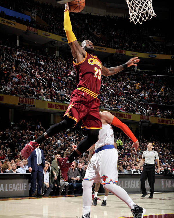 Nba Pro Basketball Poster featuring the photograph Lebron James by David Liam Kyle