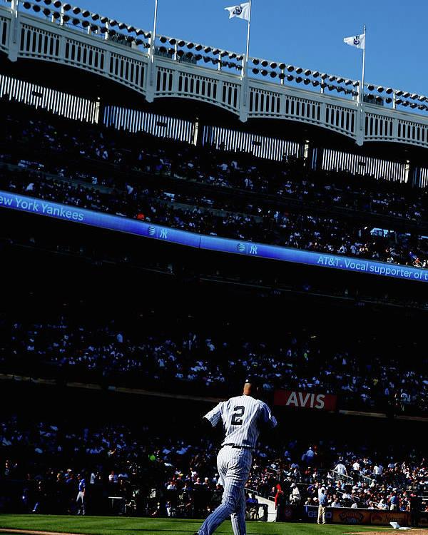 American League Baseball Poster featuring the photograph Derek Jeter by Elsa