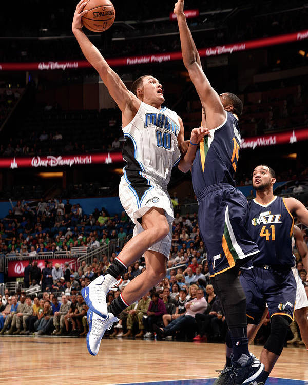 Nba Pro Basketball Poster featuring the photograph Aaron Gordon by Gary Bassing