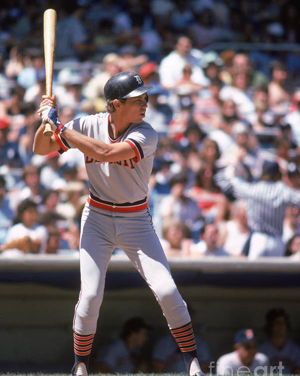 American League Baseball Poster featuring the photograph Alan Trammell by Rich Pilling