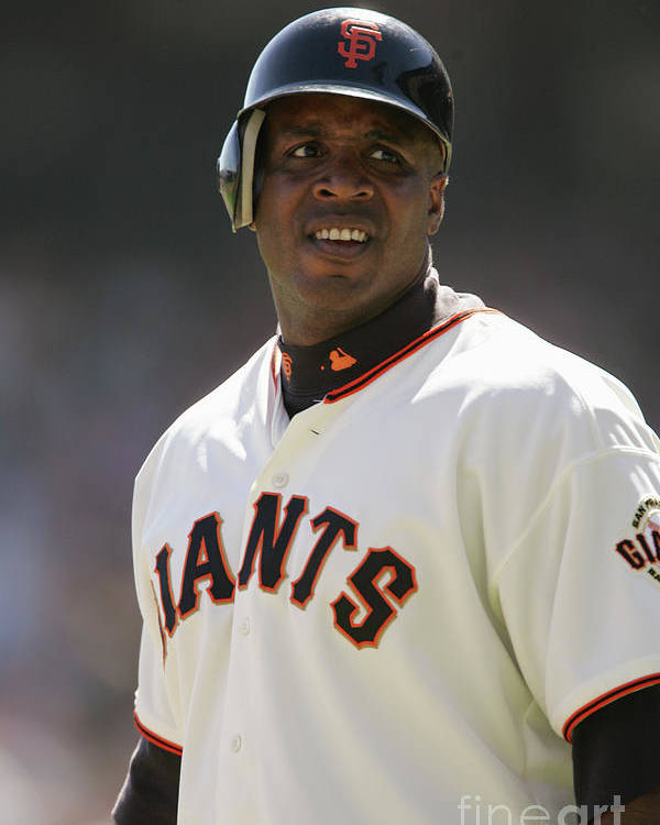 San Francisco Poster featuring the photograph Barry Bonds by Brad Mangin