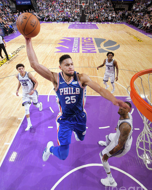 Nba Pro Basketball Poster featuring the photograph Ben Simmons by Rocky Widner
