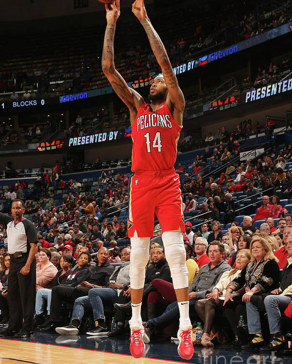 Smoothie King Center Poster featuring the photograph Brandon Ingram by Layne Murdoch Jr.