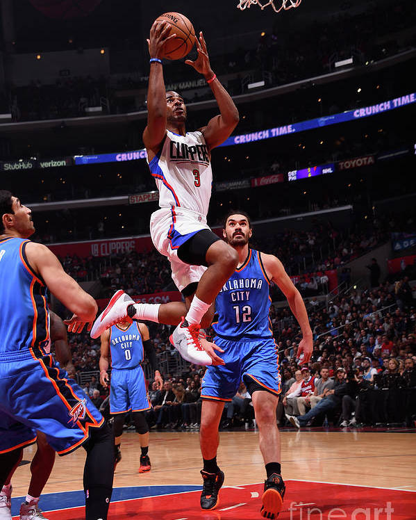 Nba Pro Basketball Poster featuring the photograph Chris Paul by Juan Ocampo