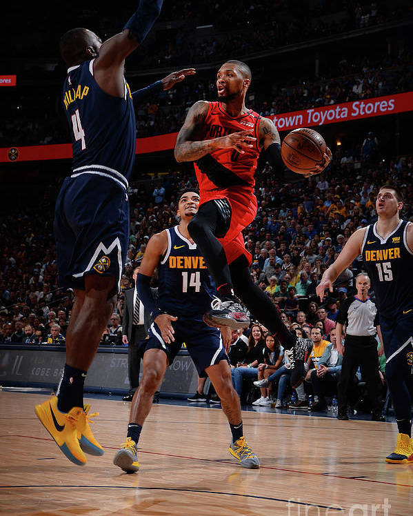 Playoffs Poster featuring the photograph Damian Lillard by Bart Young