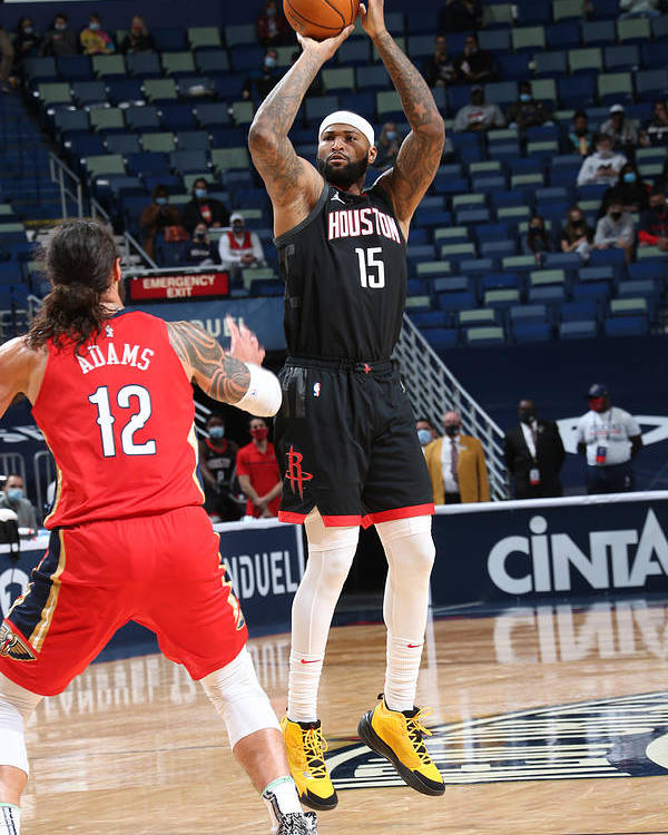 Smoothie King Center Poster featuring the photograph Demarcus Cousins by Layne Murdoch Jr.