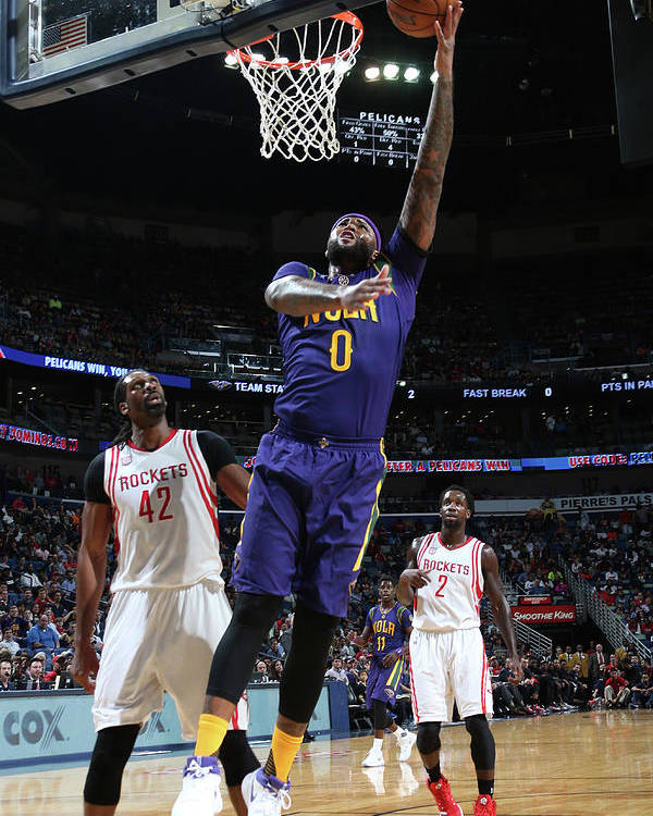 Smoothie King Center Poster featuring the photograph Demarcus Cousins by Layne Murdoch
