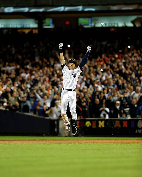 Ninth Inning Poster featuring the photograph Derek Jeter by Elsa