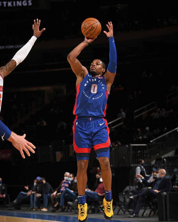 Nba Pro Basketball Poster featuring the photograph Detroit Pistons v New York Knicks by Garrett Ellwood