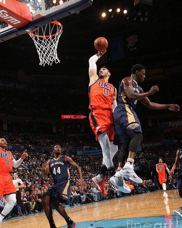 Nba Pro Basketball Poster featuring the photograph Enes Kanter by Layne Murdoch
